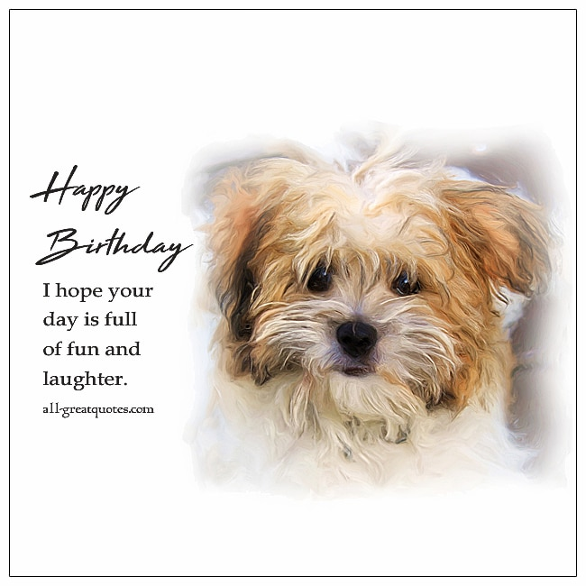 Happy Birthday | Free Birthday Cards Terrier Puppy