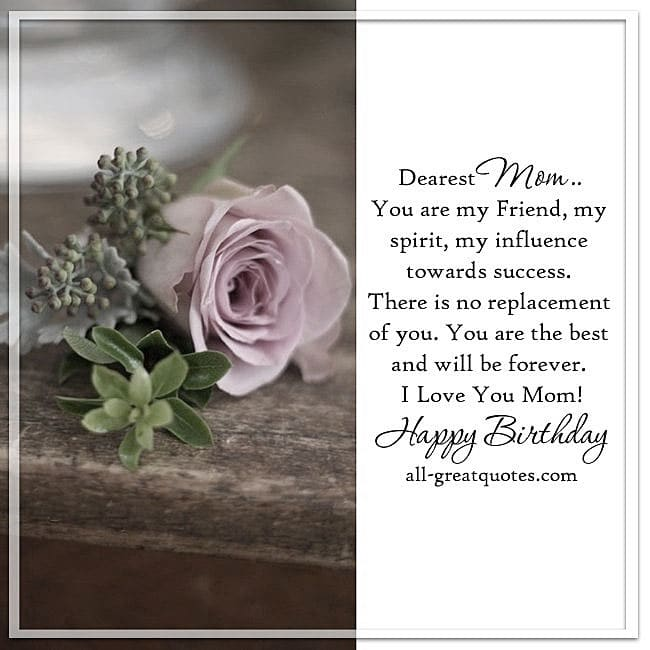 I Love You Mom Happy Birthday | Free Cards For Mom