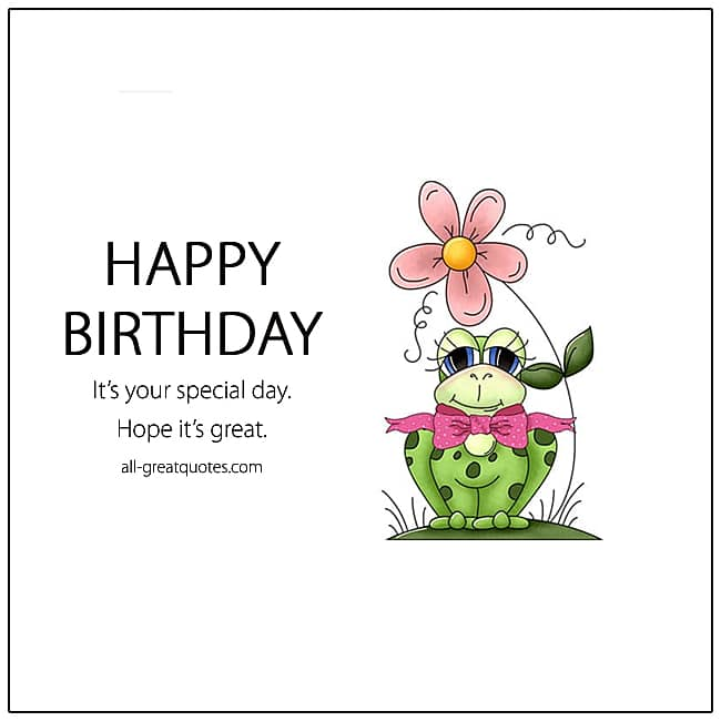 Happy Birthday Card Frog Birthday Card For Kids