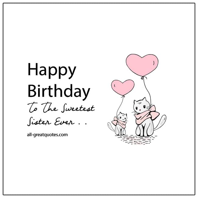 Happy Birthday Sister Card For Facebook