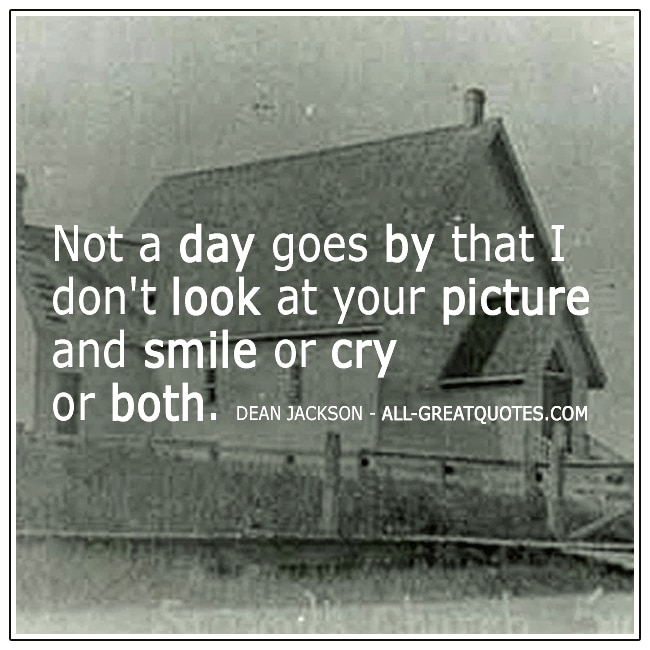 Not a day goes by that I don't look at your picture Grief Quote Card