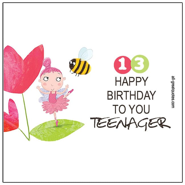 13th Happy Birthday To You Teenager Age Birthday Cards