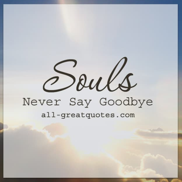 Beautiful Never Say Goodbye Quote With Cartoon
