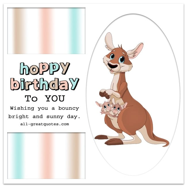 HOPPY BIRTHDAY To YOU | Kangaroo Birthday Card