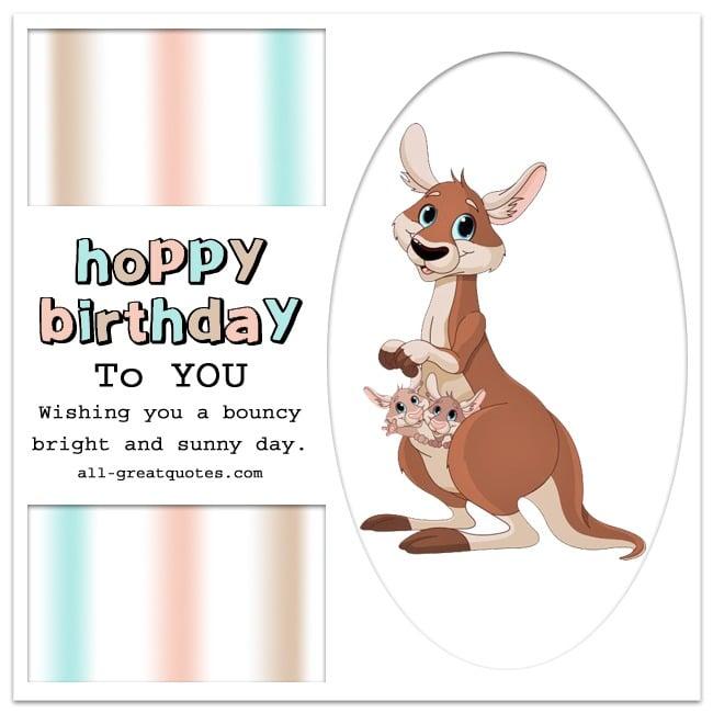 HOPPY BIRTHDAY To YOU | Kangaroo Birthday Card