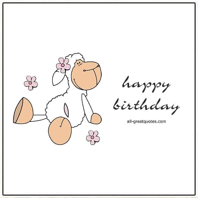 Happy Birthday Cute Sheep Birthday Card