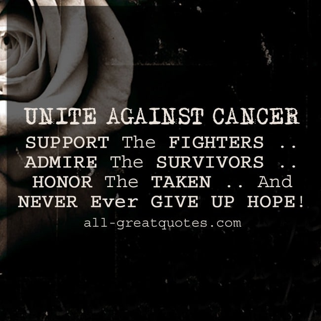 Unite Against Cancer | Grief Loss Quotes