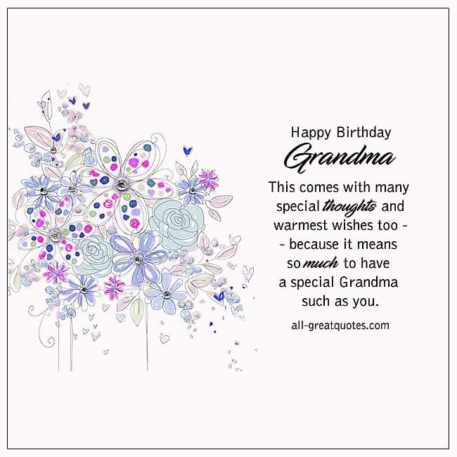Free Birthday Cards For Grandmother | Happy Birthday Grandma