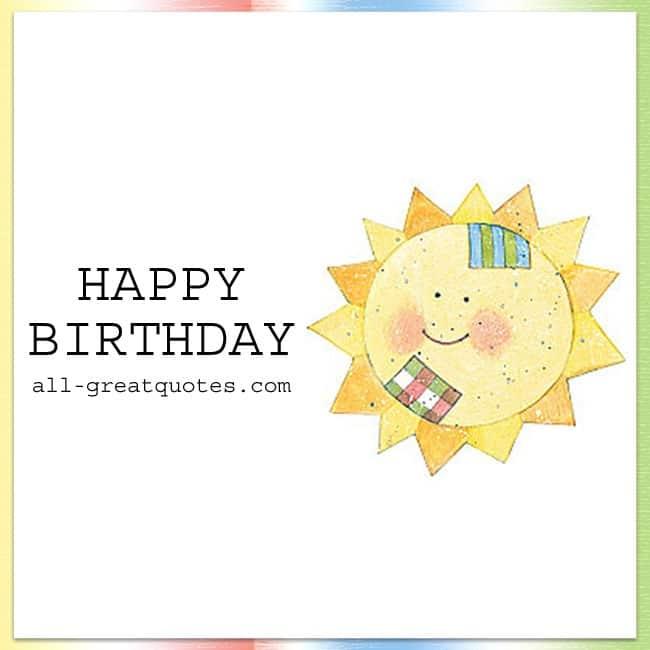 Free Birthday Cards Sun Picture Happy Birthday