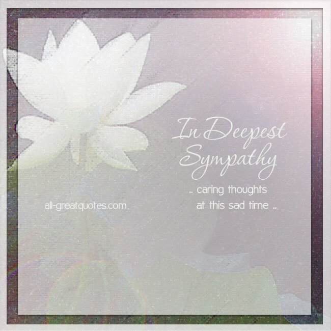 In Deepest Sympathy Cards | Caring thoughts at this sad time