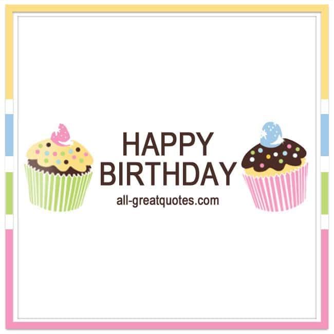 Happy Birthday Share Free Birthday Cards Cupcakes