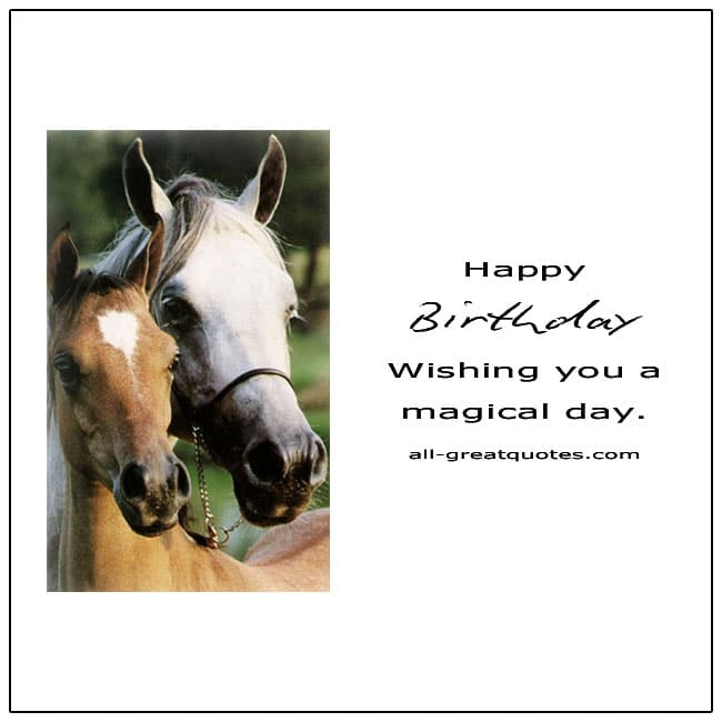 Happy Birthday Wishing You A Magical Day Card
