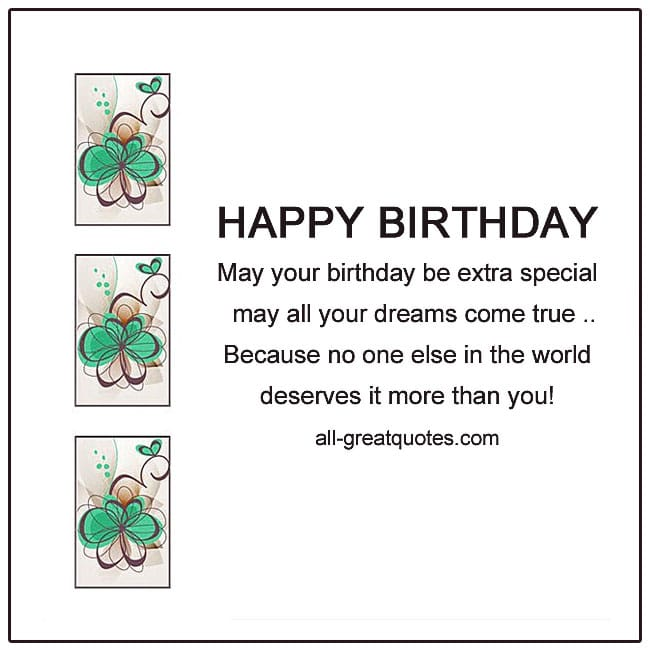 Happy Birthday - May Your Birthday Be Extra Special Free Birthday Cards For Facebook