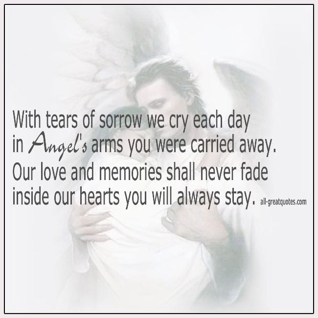 In Angels Arms You Were Carried Away Grief Verse