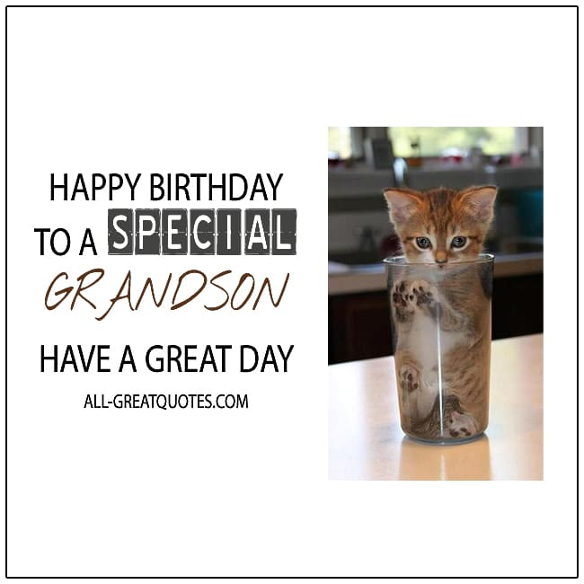 Happy Birthday To A Special Grandson Birthday Cards For Grandson