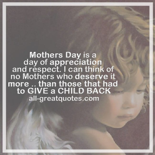 Mothers day is a day of appreciation and respect mothers day
