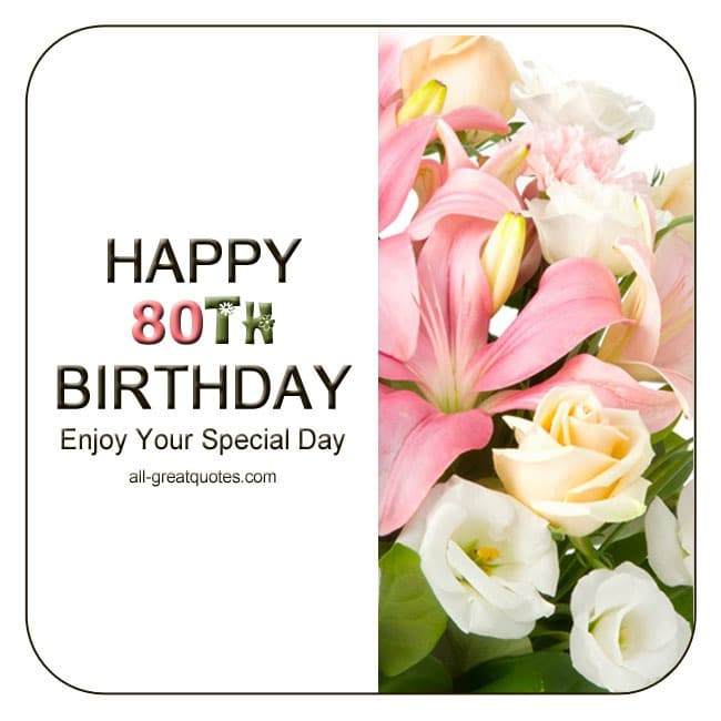 Share Happy 80th Birthday Cards