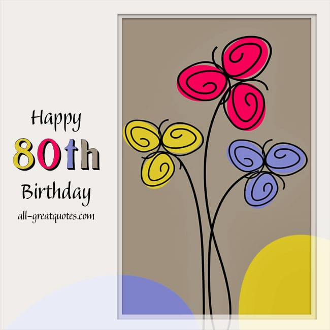 Happy 80th Birthday Cards On Facebook Share
