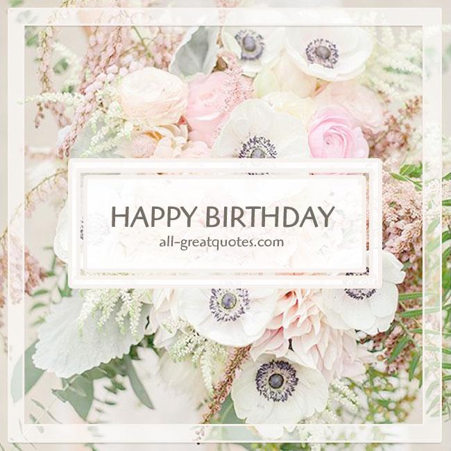 Happy Birthday Pastel Flowers Birthday Card