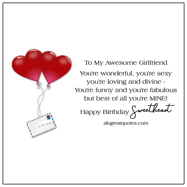 My Awesome Girlfriend Youre Wonderful Youre Sexy Share Free Girlfriend Card