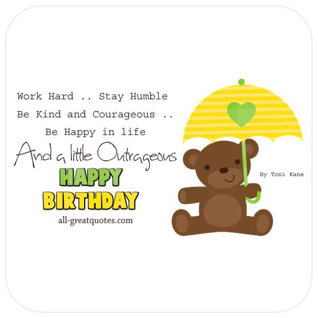 Free Birthday Cards For Facebook - Work Hard Stay Humble Quote