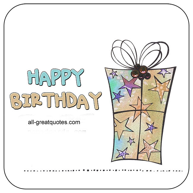 Nice Happy Birthday Card For Facebook Family Friends