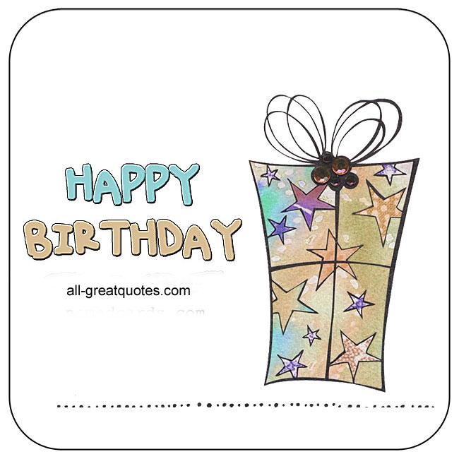 Nice Happy Birthday Card For Facebook