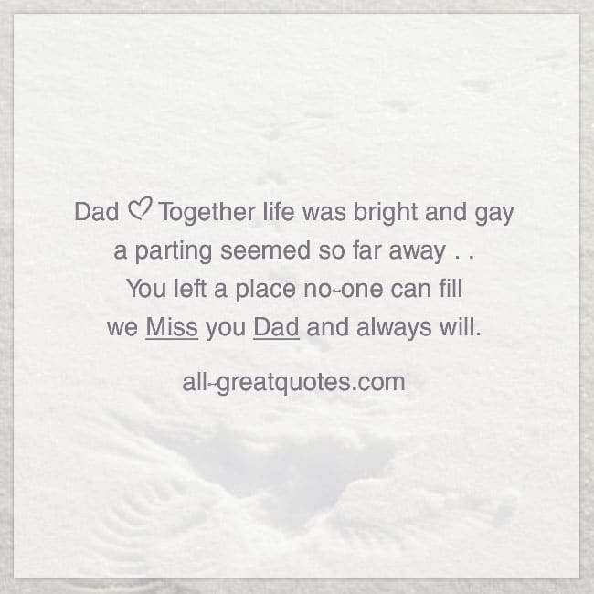 We Miss You Dad And Always Will Fathers Day In Heaven Card