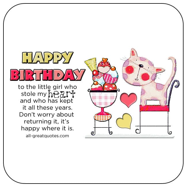 Daughter S 9th Birthday Quotes: Happy Birthday Wishes For Daughter Birthday Poems For
