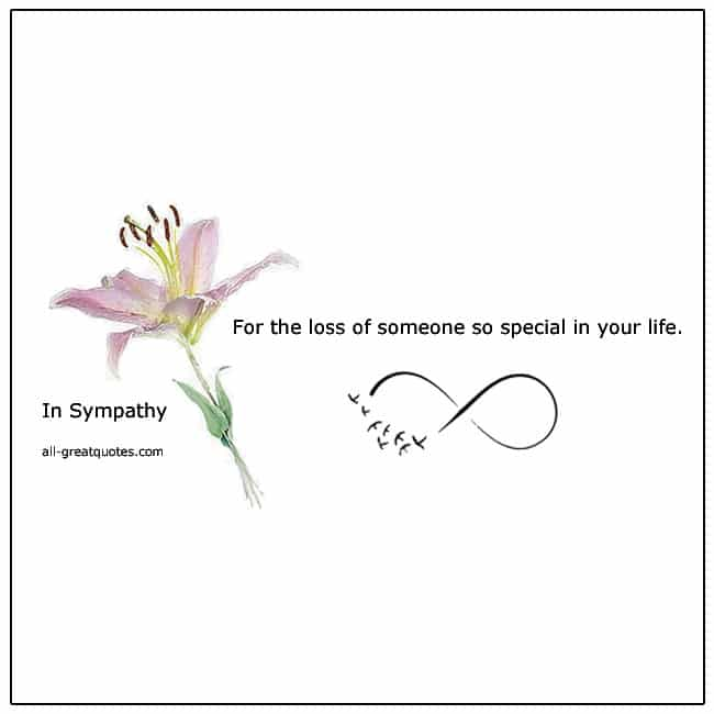 For The Loss Of Someone So Special In Sympathy Card