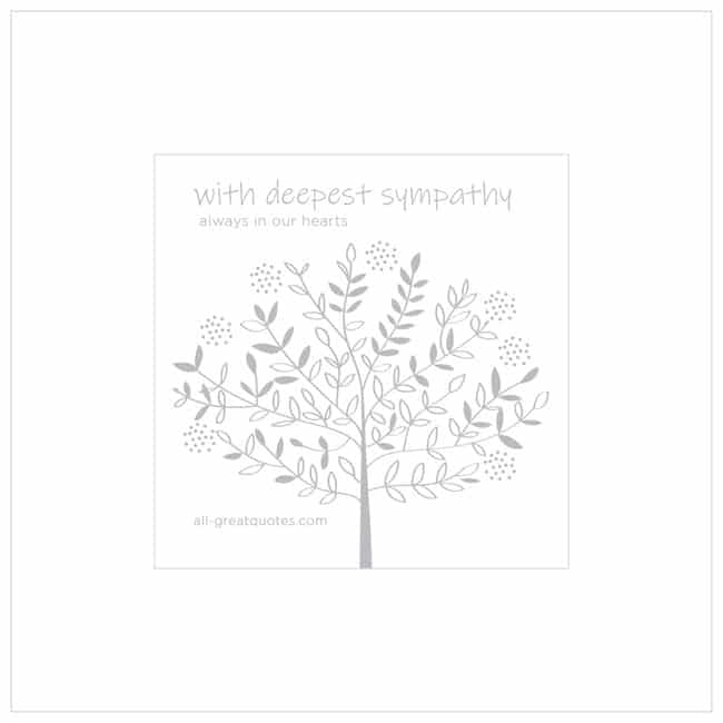With Deepest Sympathy Always In Our Hearts Sympathy Cards