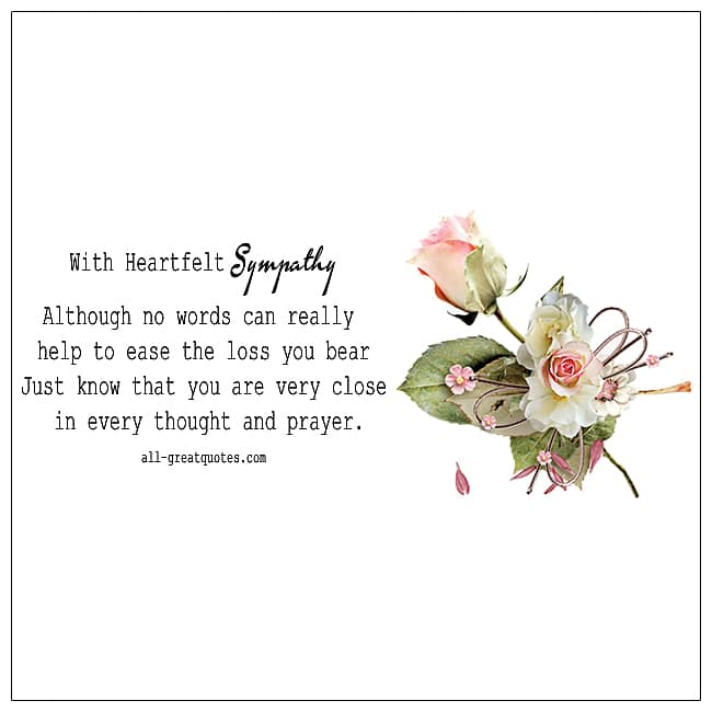 Deepest Sympathy Words Of Sympathy Cards For Loss Of Pet Loss Sympathy Cards