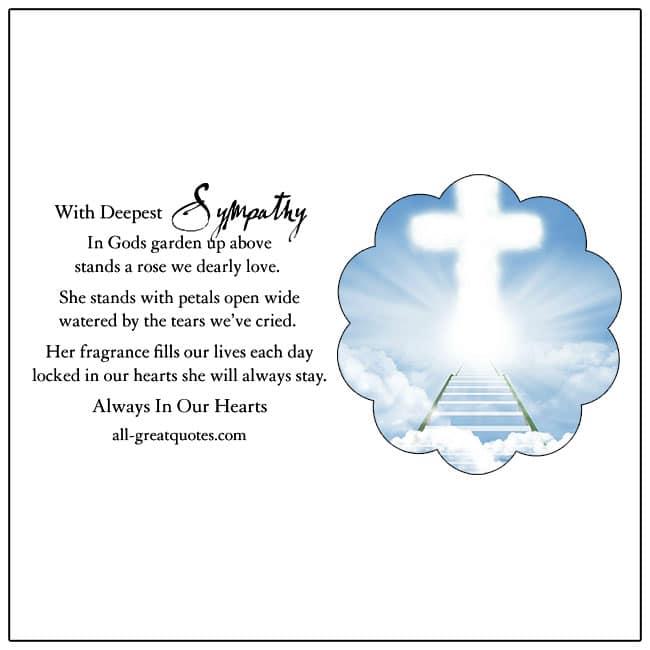 Bereavement Note Of Sympathy Verses