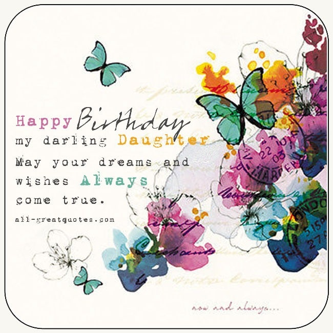 Daughter S 9th Birthday Quotes: Birthday Wishes For Daughter From Mom Dad Daughter