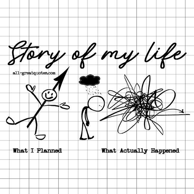 Story Of My Life What I Planned What Actually Happened Funny Life Quotes