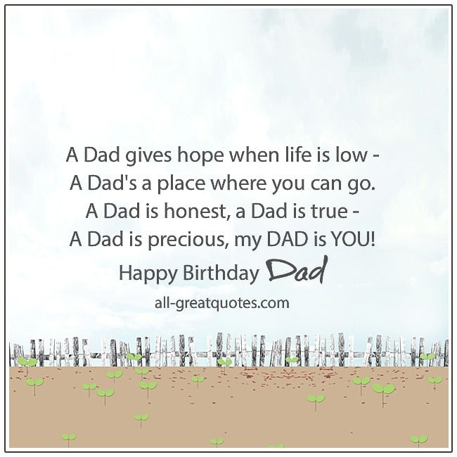Birthday Poems For Dad Verses