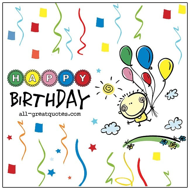 Happy Birthday Card Colorful Birthday Card