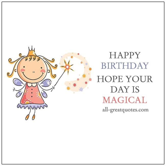 Happy Birthday. Hope Your Day Is Magical. Free Birthday Cards For Facebook