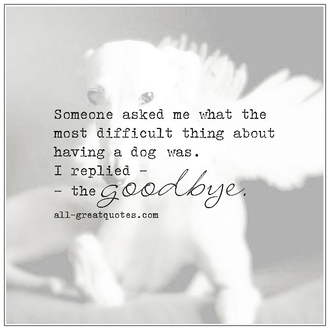 The Most Difficult Thing About Owning A Dog Pet Loss Quotes