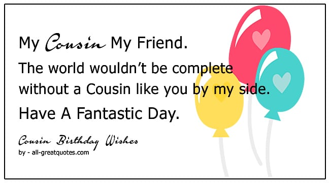 best cousin happy birthday wishes to write