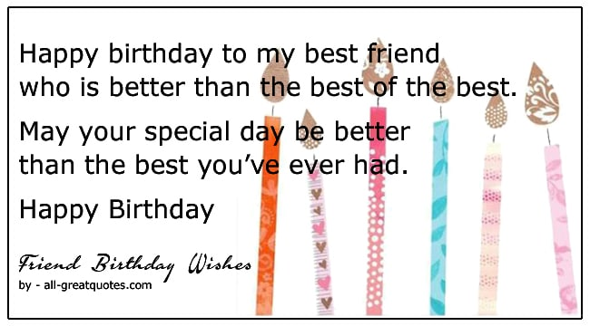 Birthday Wishes For Friends To Write