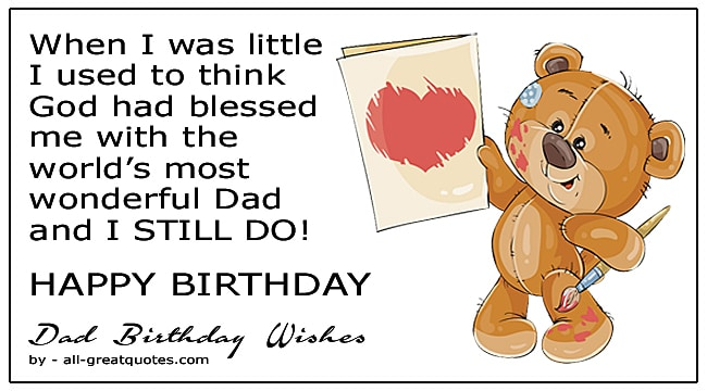 best happy birthday wishes for dads