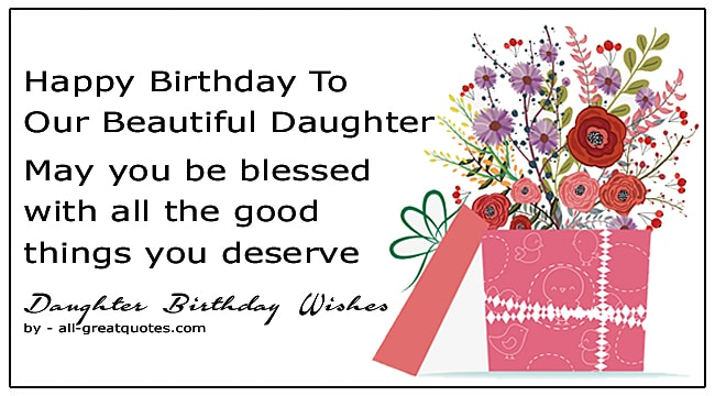 best happy birthday wishes for daughter