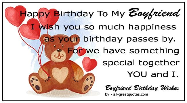 boyfriend happy birthday wishes