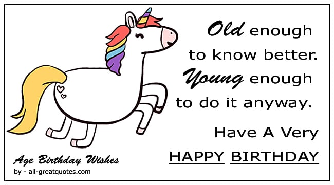 funny old age birthday wishes age