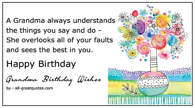 grandma happy birthday wishes
