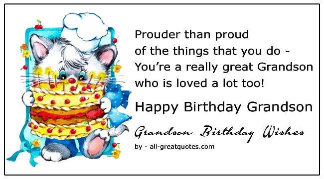 grandson happy birthday wishes
