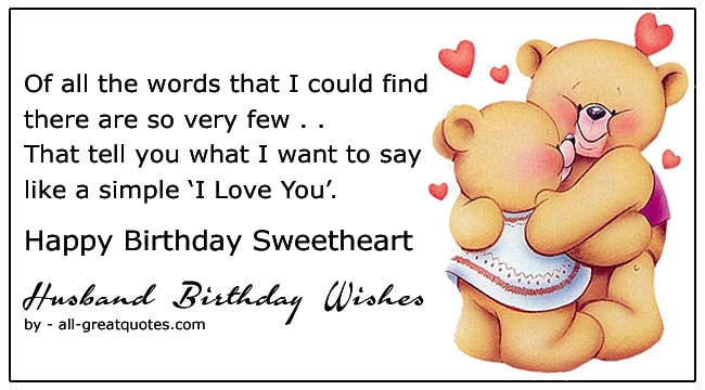 top happy birthday husband wishes poems