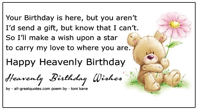 happy heavenly birthday wishes to write
