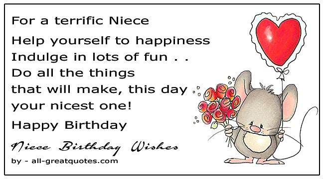 Best Happy Birthday Niece Wishes To Write